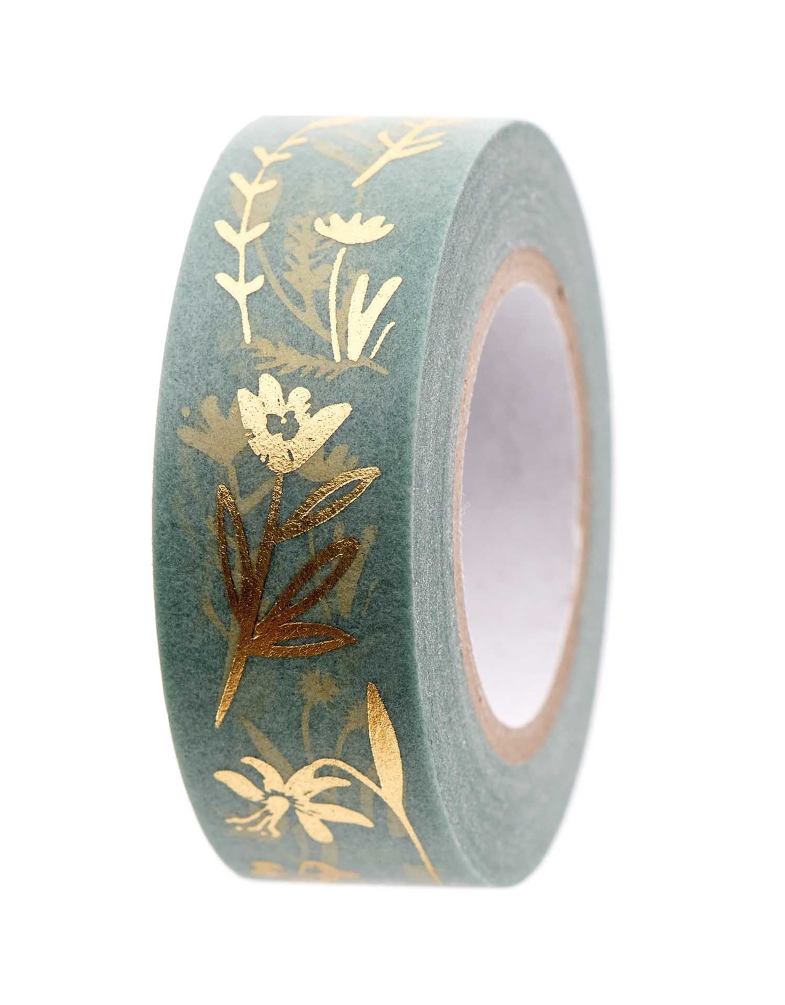 Rico Design Washi tape - bloemen munt 10m
