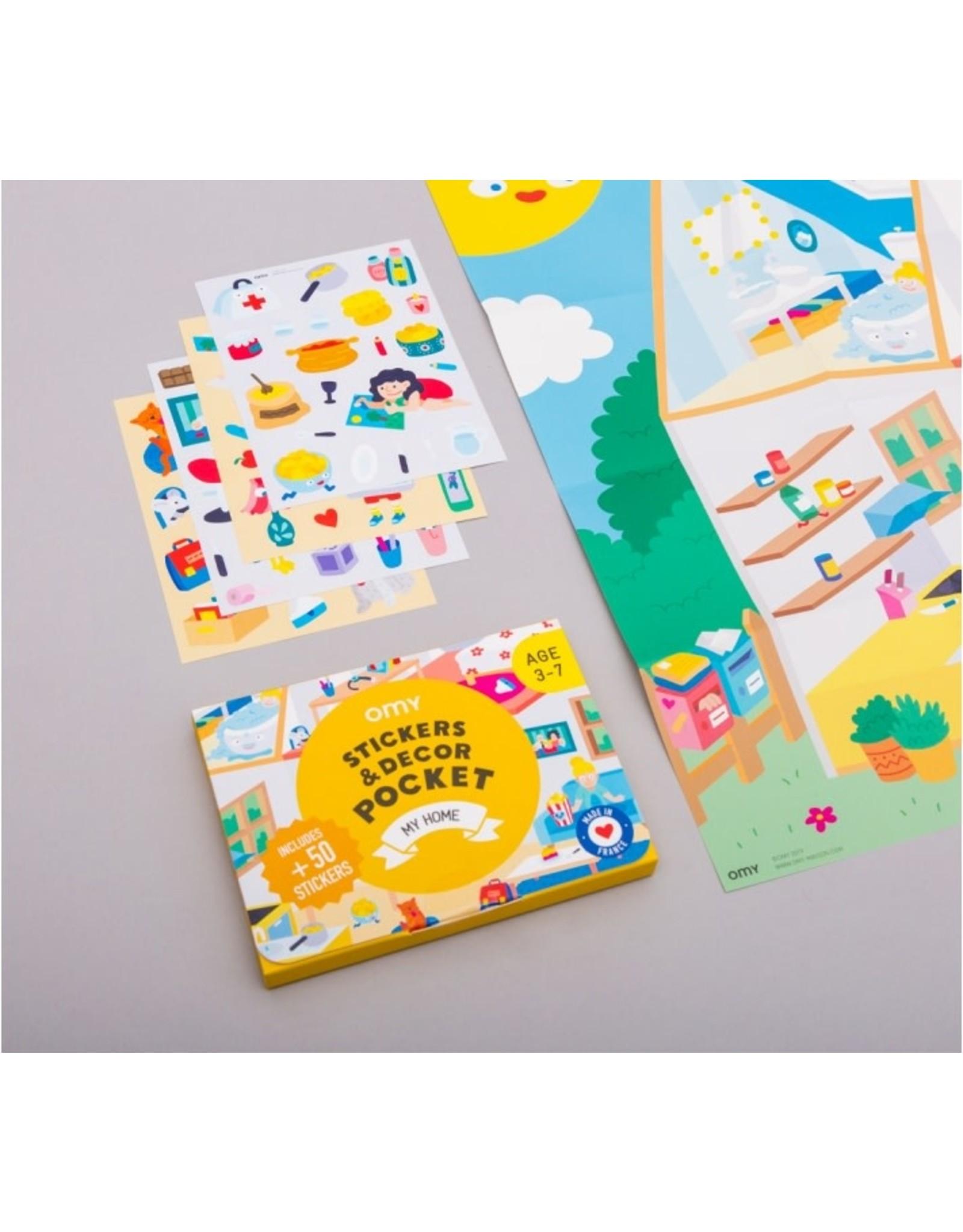 OMY Stickers decor pocket - My home