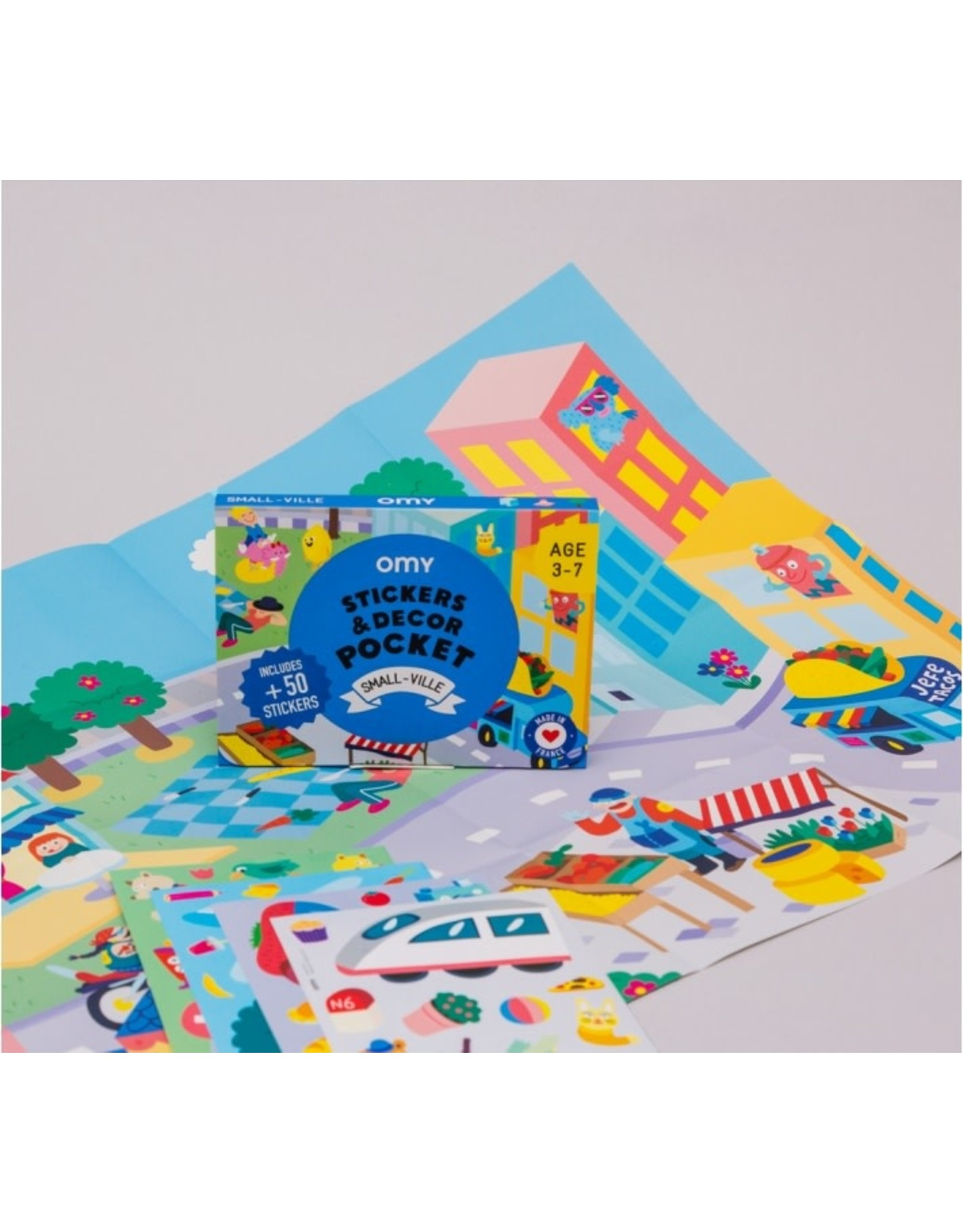 OMY Stickers deco pocket - Small-ville