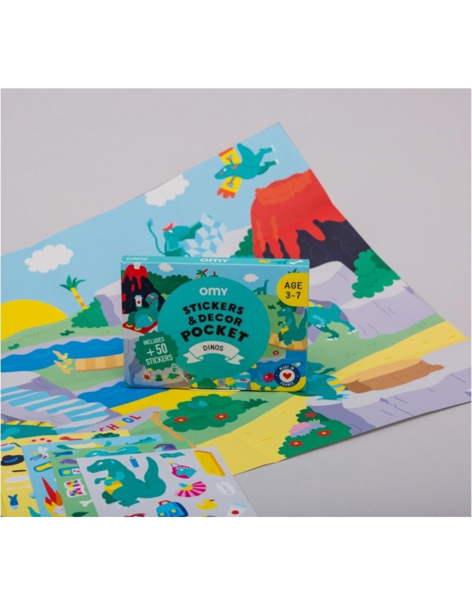 OMY Stickers decor pocket - Dinos