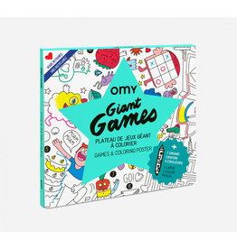 OMY Giant games poster + potlood