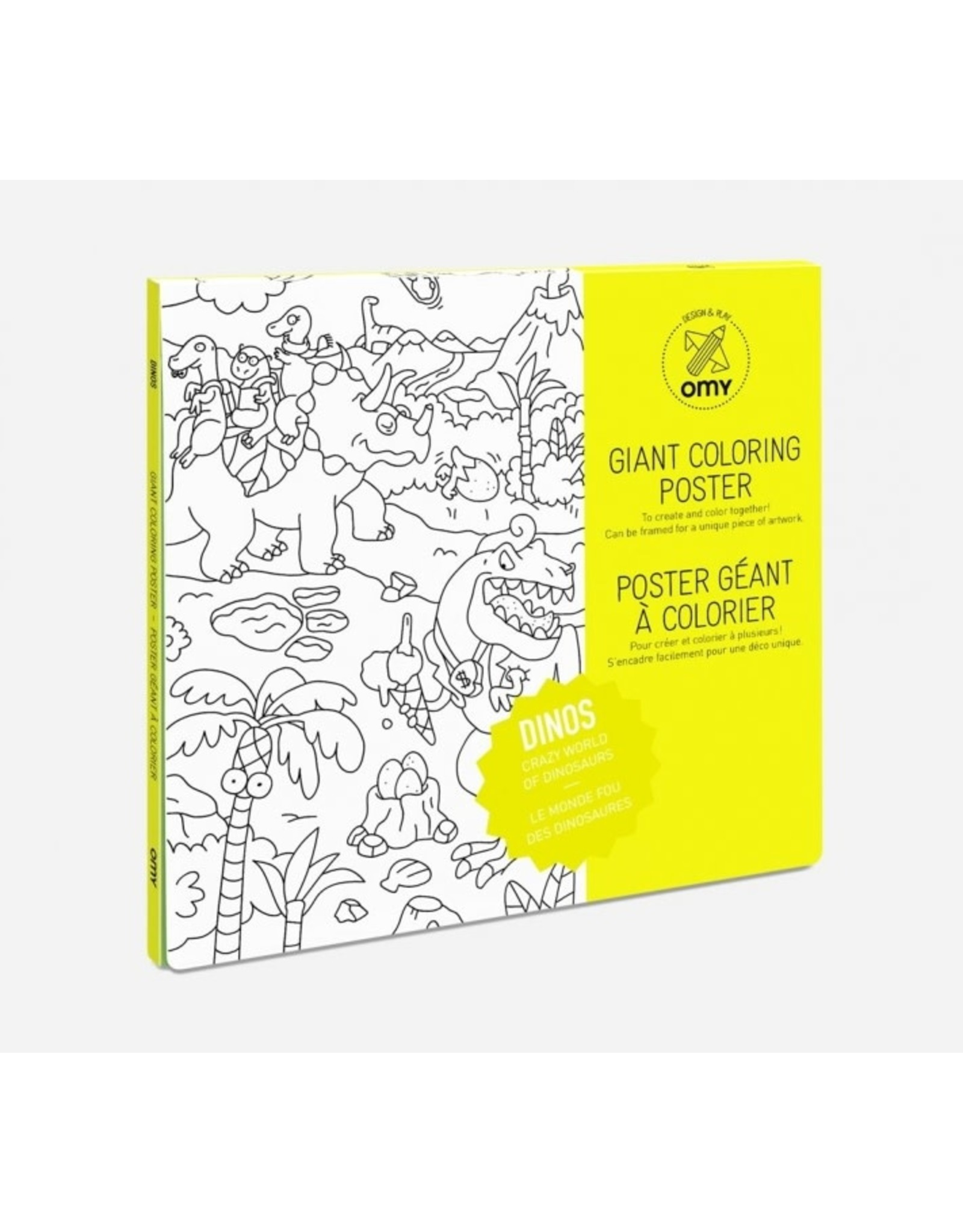 OMY Coloring poster - dinos - 100x70