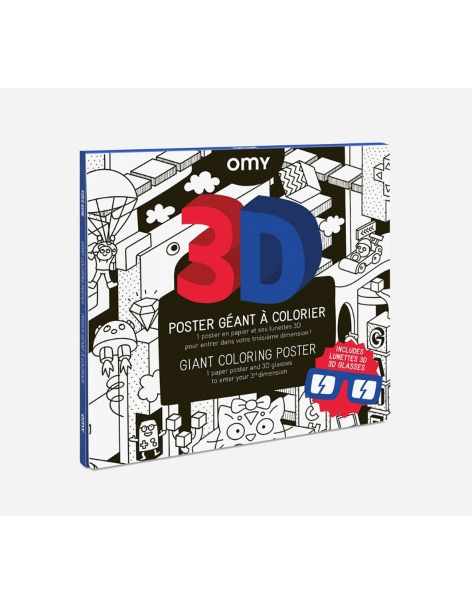 OMY Coloring poster - 3D video games - 70x100