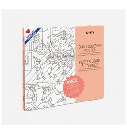 OMY Coloring poster - dance - 70x100
