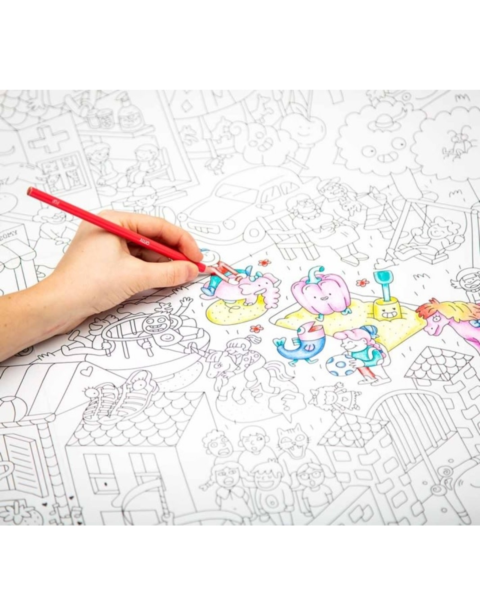 OMY Coloring poster - kids life - 70x100