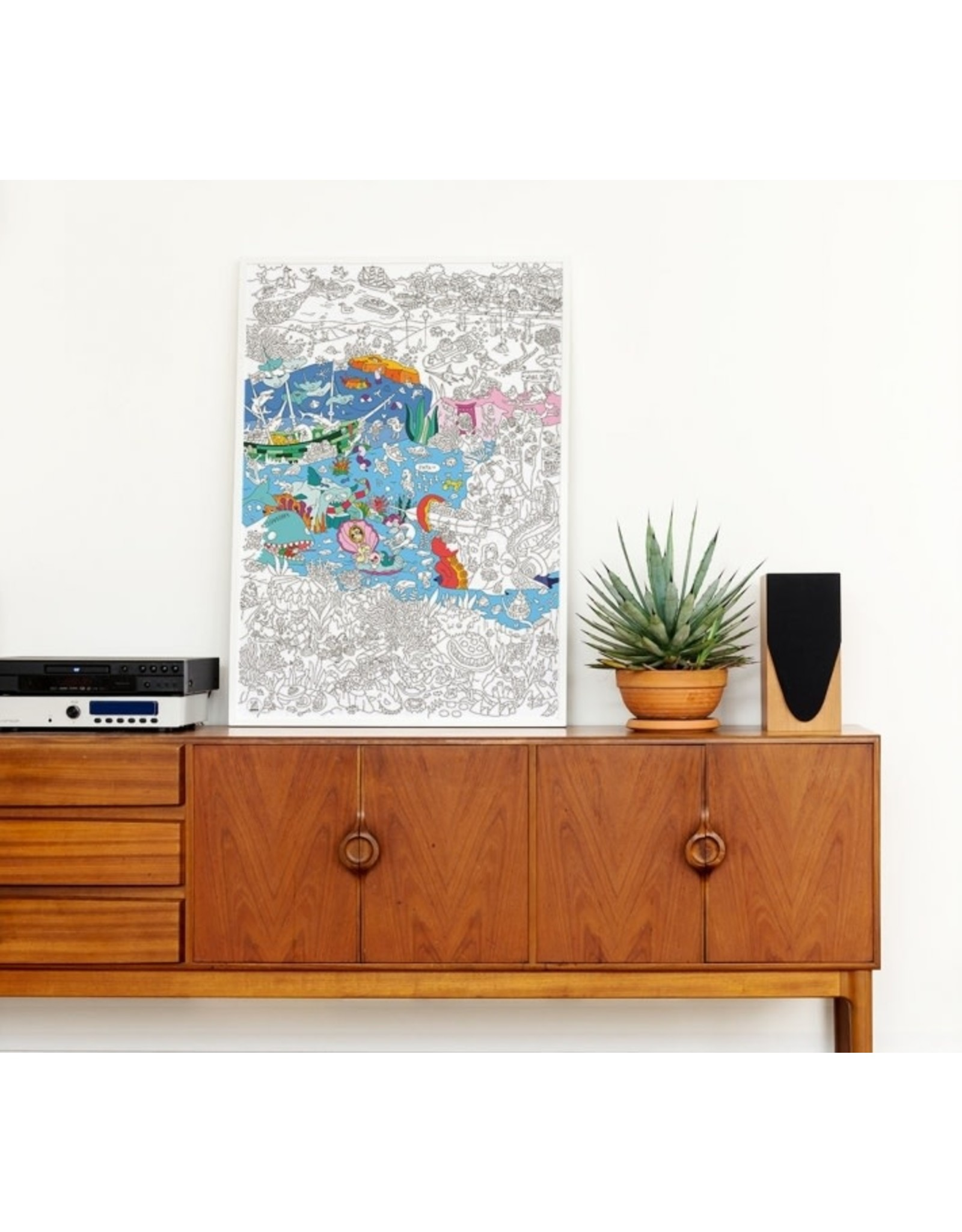 OMY Coloring poster - ocean - 70x100