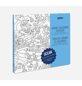 OMY Coloring poster - ocean - 70x100