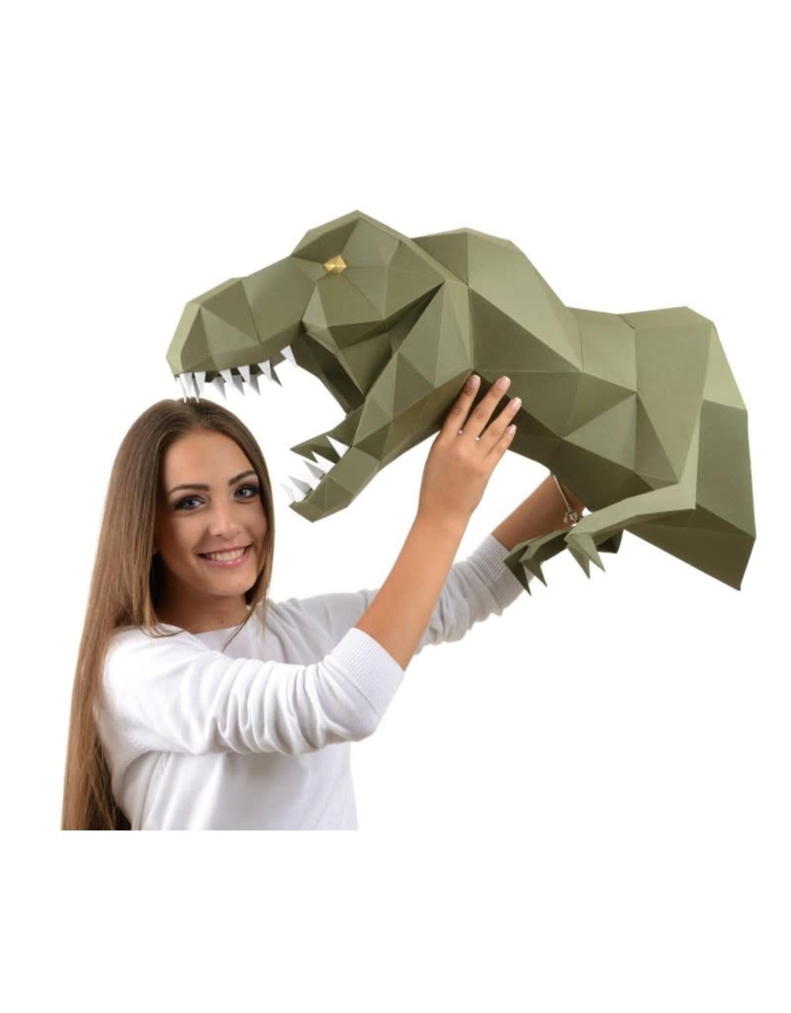 Wizardi 3D model - papercraft dino groen