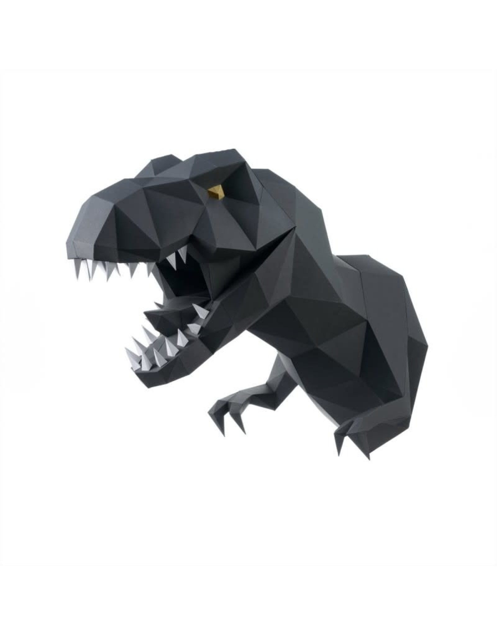 Wizardi 3D model - papercraft dino zwart