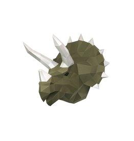 Wizardi 3D model - papercraft dino tops wasabi
