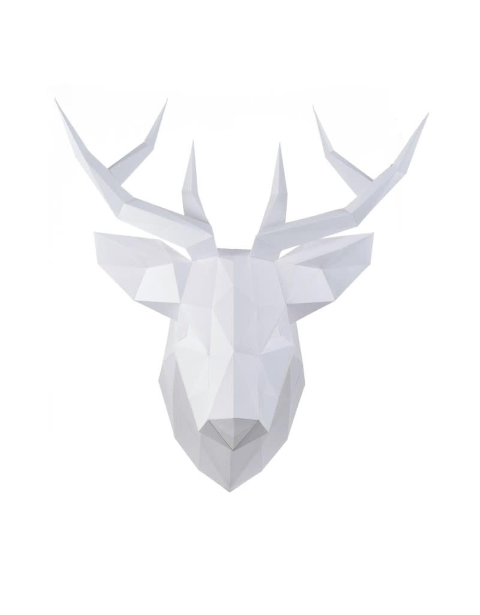 Wizardi 3D model - papercraft rendier wit