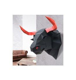 Wizardi 3D model - papercraft stier