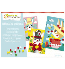Avenue Mandarine DIY box - schilderijen met pompons