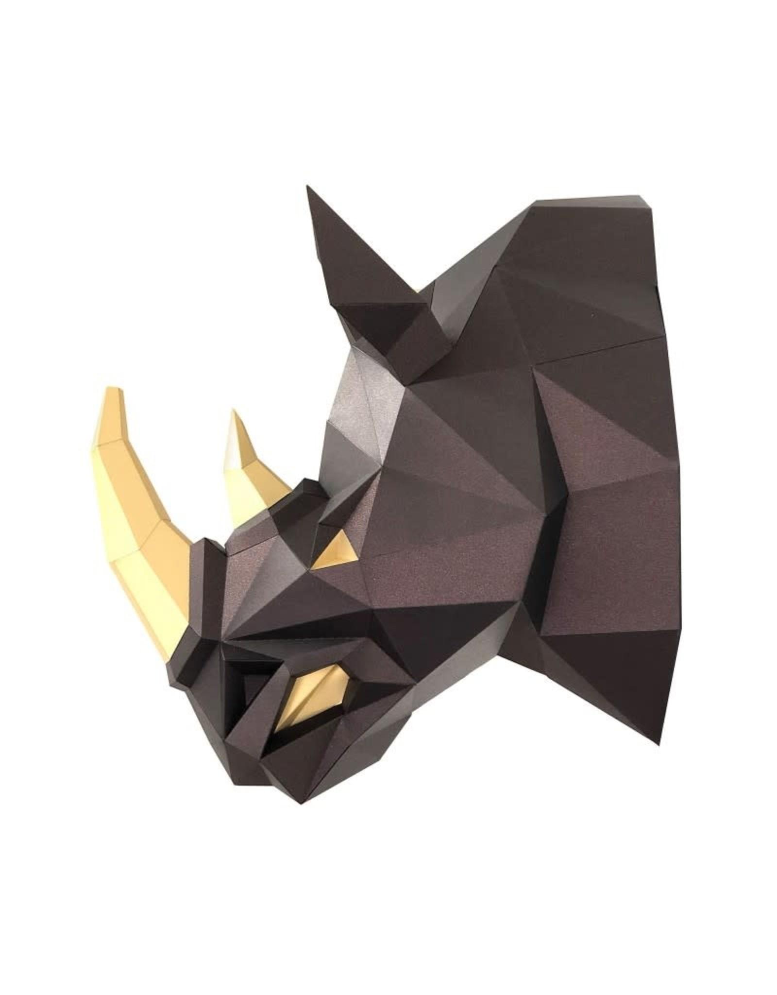 Wizardi 3d model - papercraft rhino