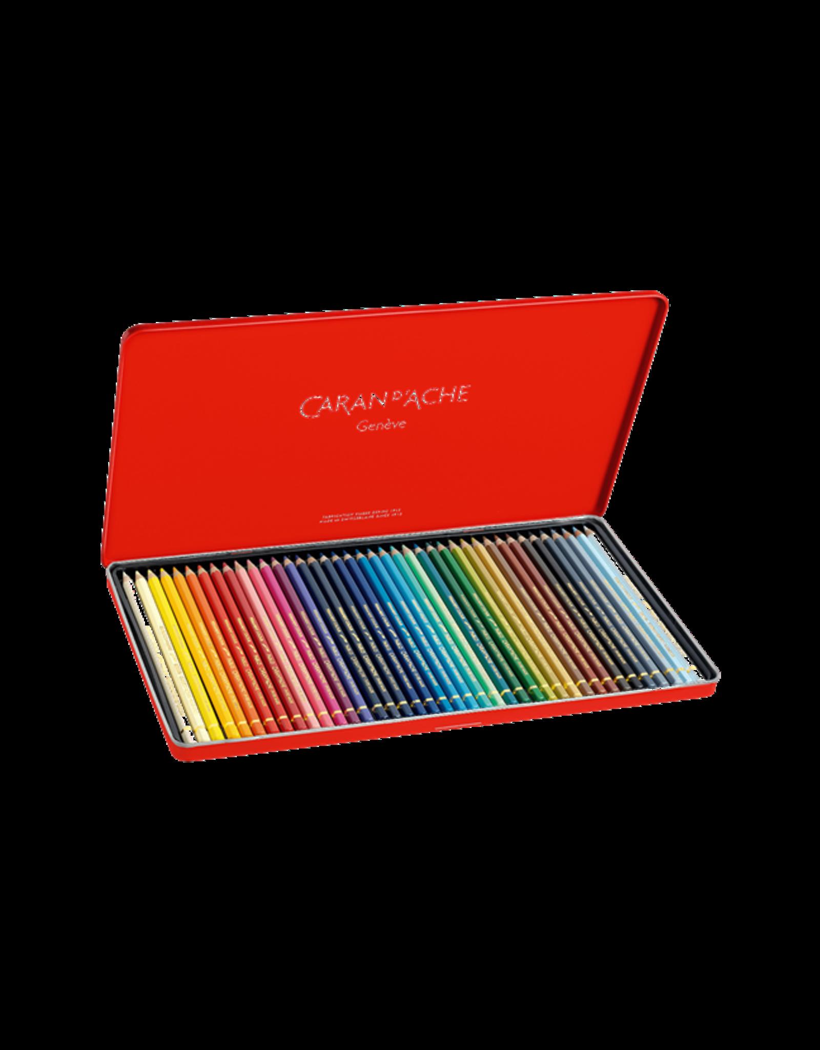 Caran d'Ache Pablo potloden metalen doos 40 kleuren