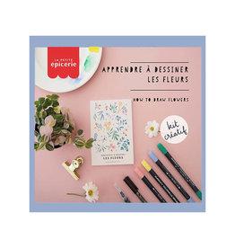 La petite épicerie DIY kit - bloemen tekenen