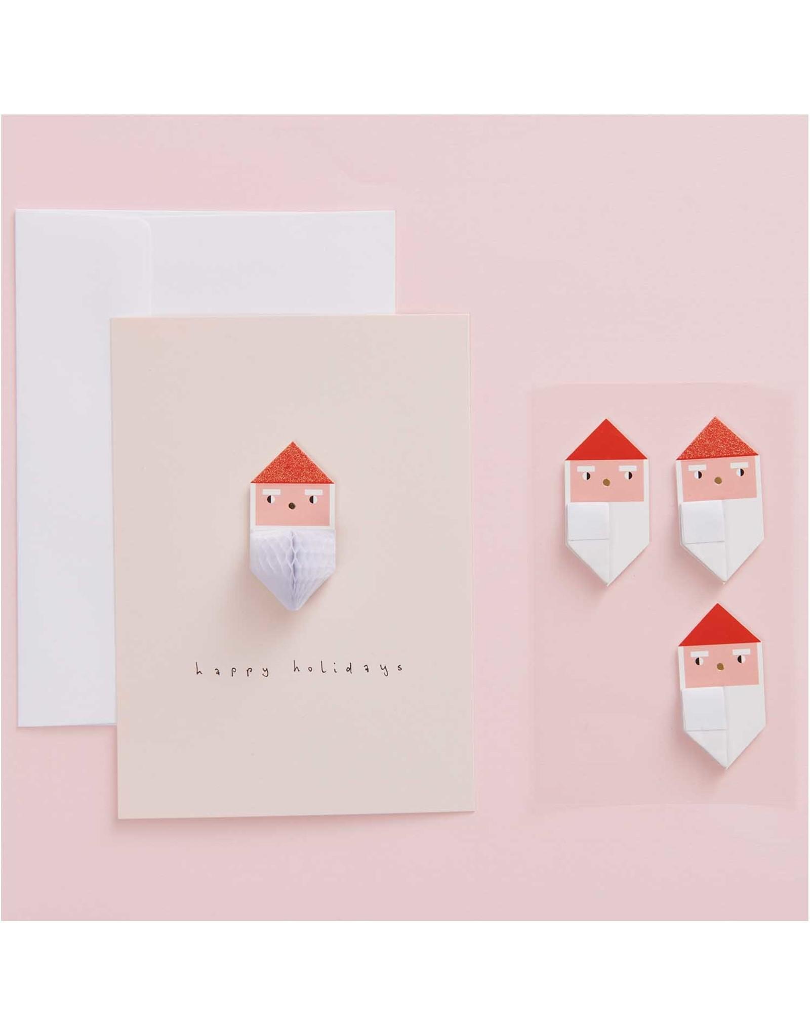 Rico Design Premium honeycomb sticker - kerstman 4 st