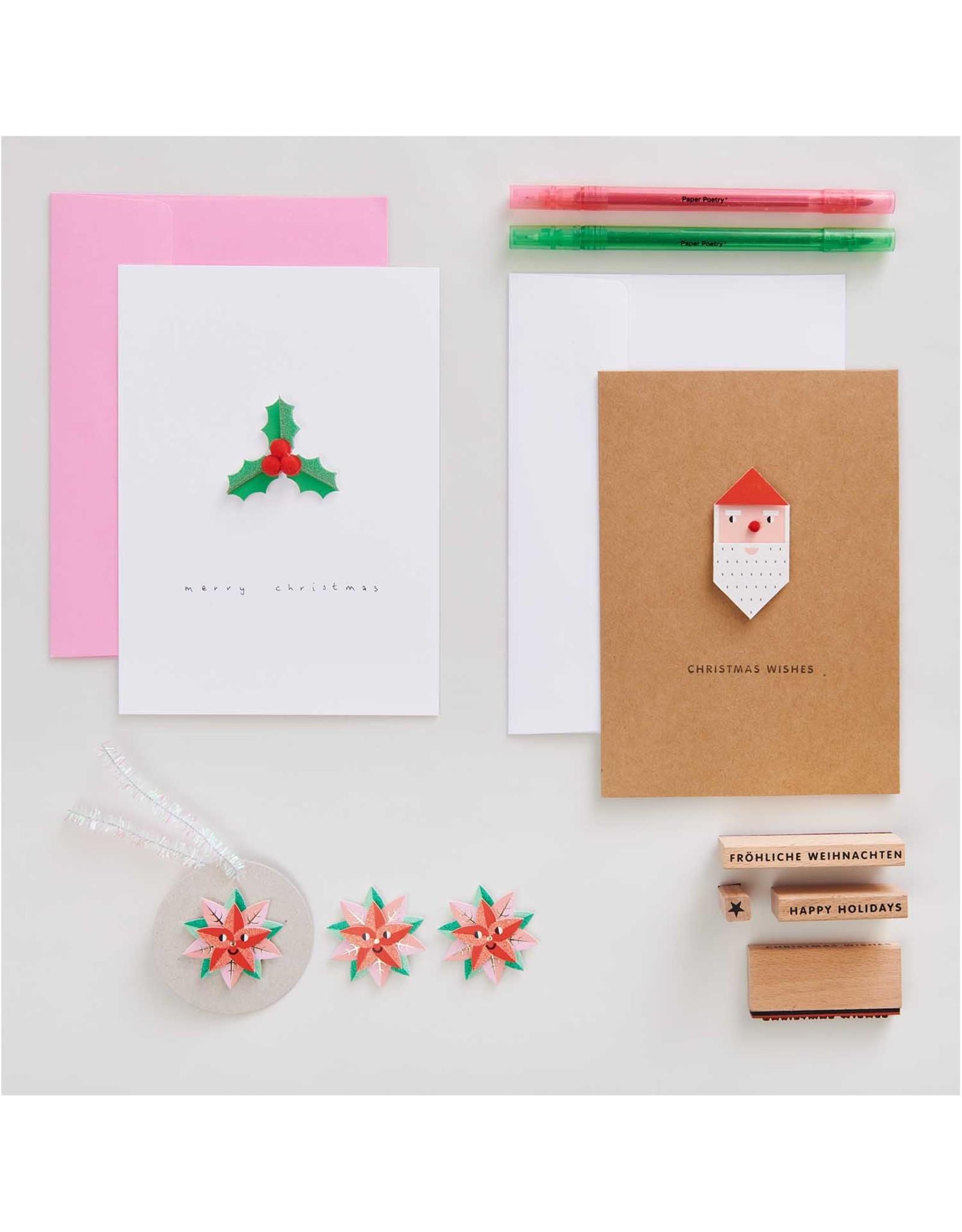 Rico Design 3 sticker kerstster 6st
