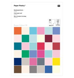 Rico Design Knutsel papier A4 300g multi color 30 vellen