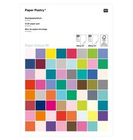 Rico Design Knutsel papier super multi color 160g 30st + 300g 30st