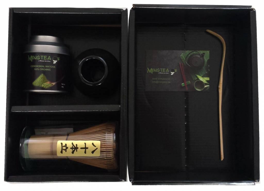 Matcha Ceremonial Organic 40g + Bambusteelöffelchen-1