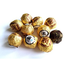 10 Perles de Thé blanc de Fuding roulé à la main