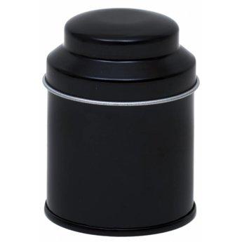 Zwart Metalen Theedoosje 40g