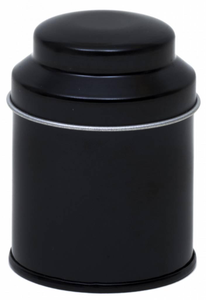 Zwart Metalen Theedoosje-1