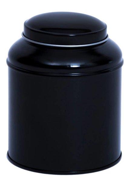 Zwart Theeblik met dubbel deksel 100g