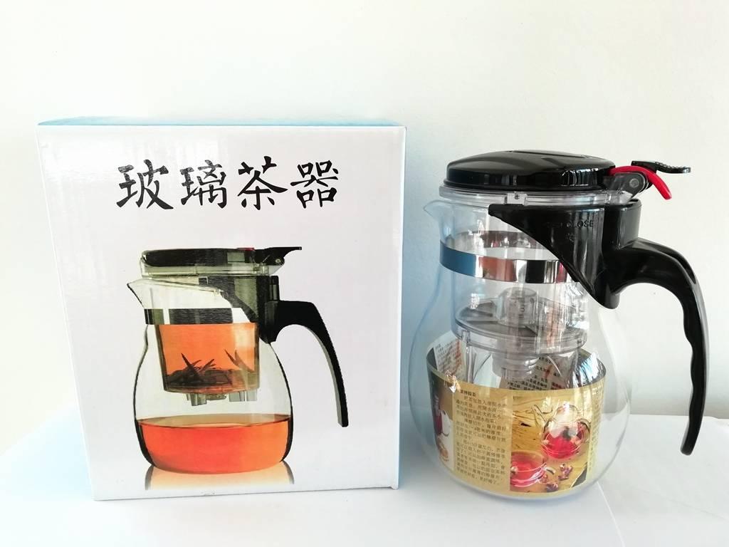 Gläserne Gongfu Teekanne für 0,5 Liter-2