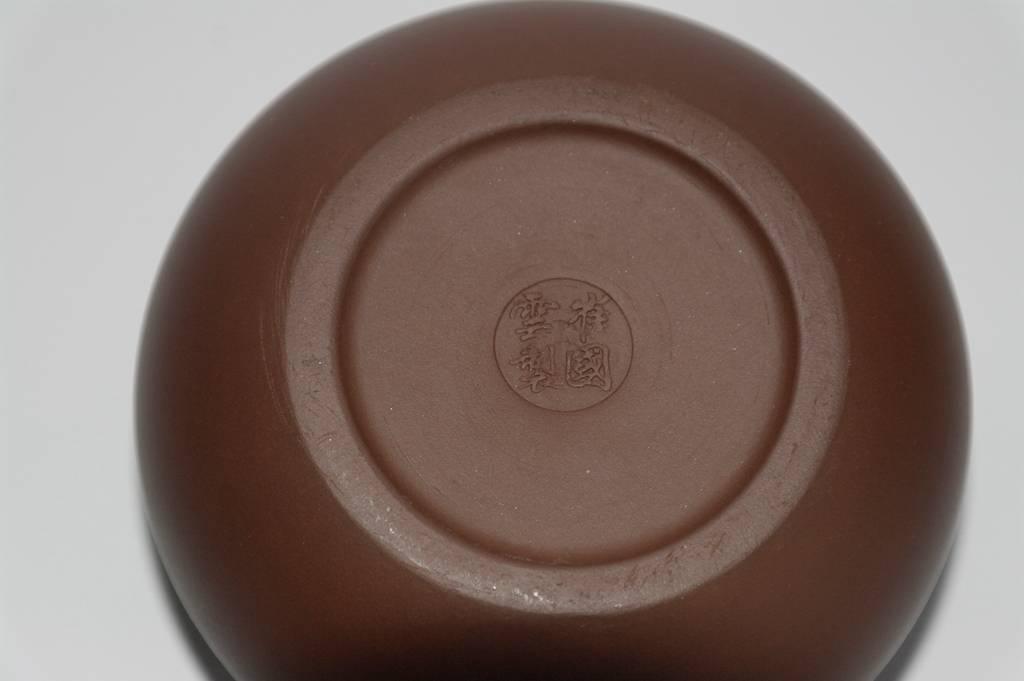 """Yixing Teekanne """" Xishi """" für 350 ml Inhalt, handgemacht aus rotem Ton-3"""