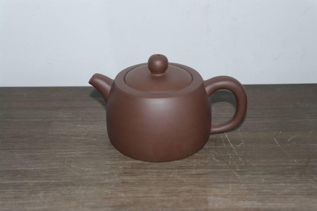 """Yixing Teekanne """" Suiyuan """" für 200 ml Inhalt, handgemacht aus rotem Ton-2"""