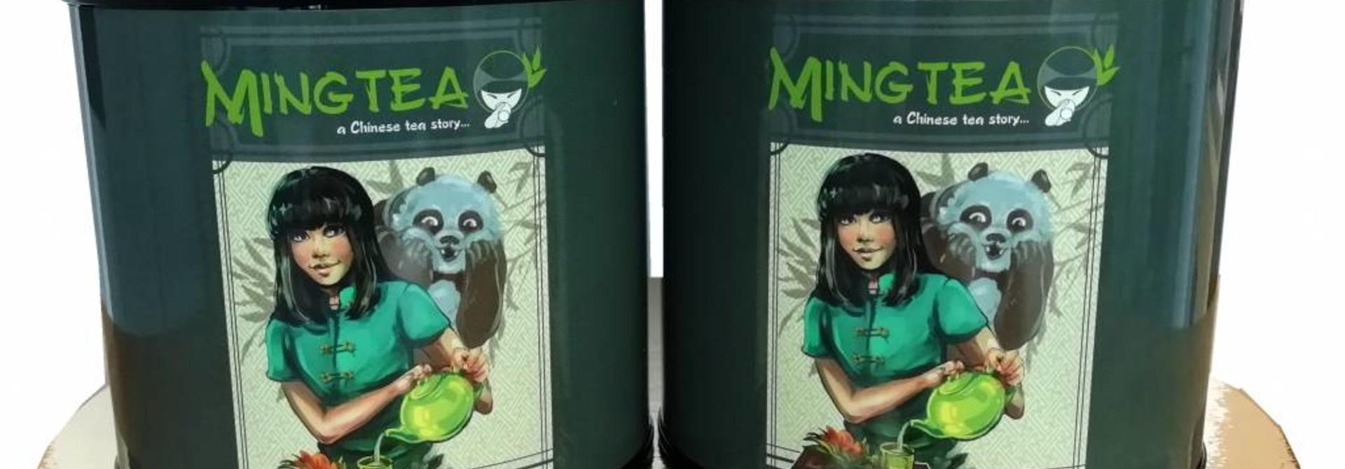 Mingtea Selection: 2 BIO gearomatiseerde theeën in Mingtea blikje