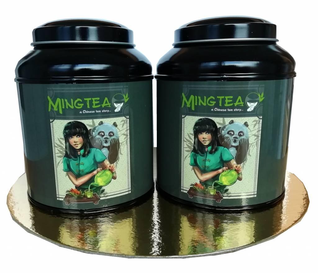 Mingtea Selection: 2 BIO gearomatiseerde theeën in Mingtea blikje-1
