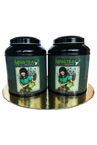 Mingtea Selection: 2 BIO Kruidentheeën in Mingtea blikje
