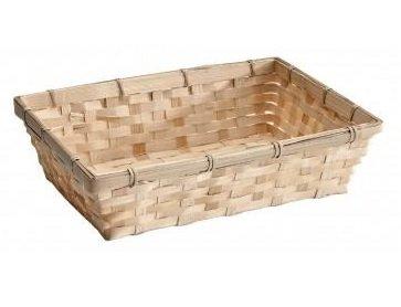 Geschenkverpackung : Rechteckiges Bambuskörbchen mit Karte-1