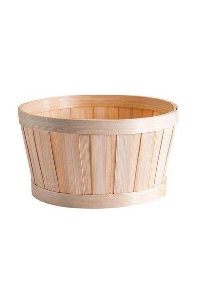 Geschenkverpackung : Rundes Bambuskörbchen und Kärtchen
