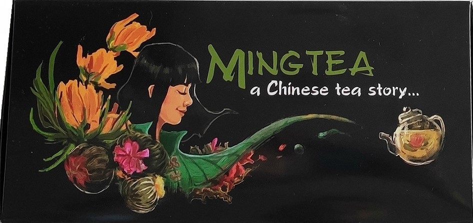12 Teeblumen + Ching Cha Teekanne für 1 L-3