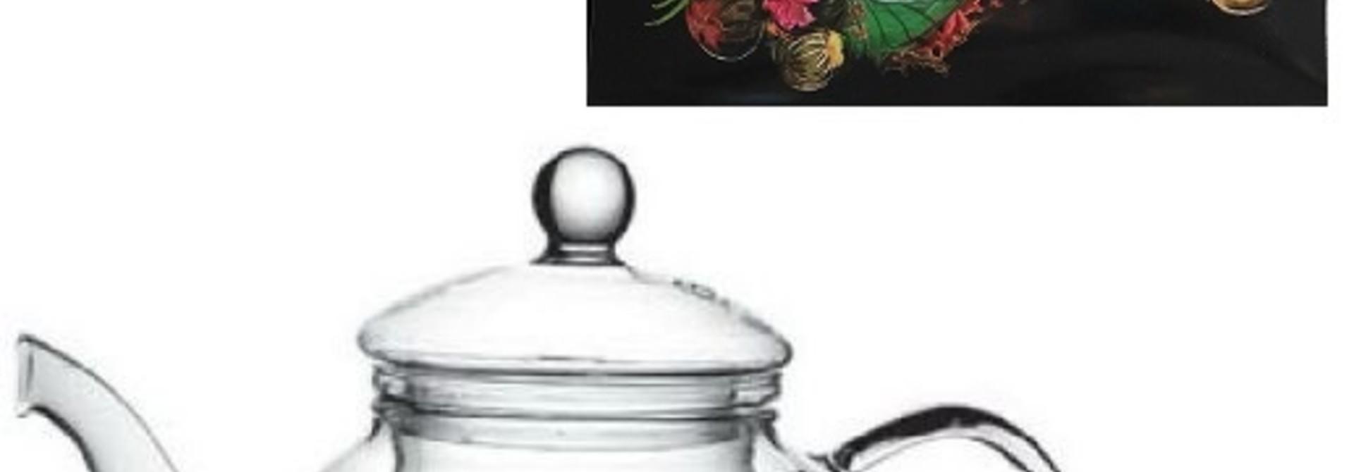 6 Fleurs de Thé + Théière JADE 600ml avec Filtre