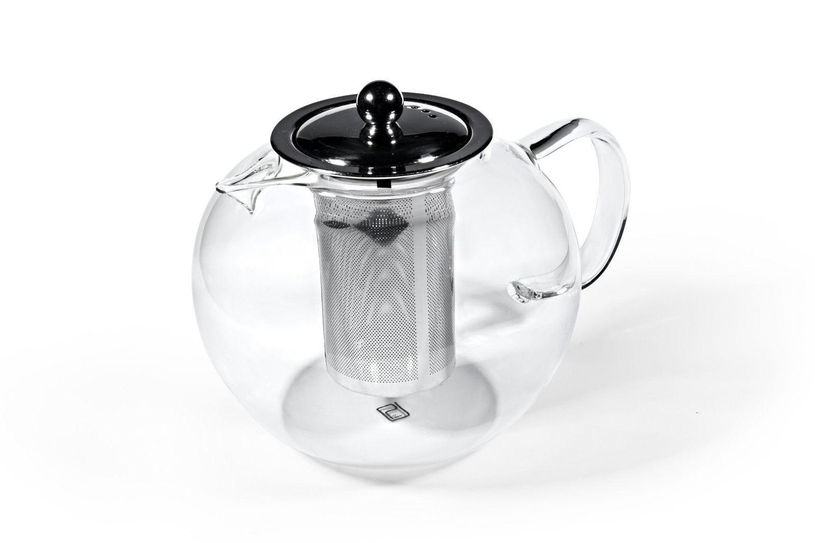 Glazen Theepot met metalen filter 950ml-2