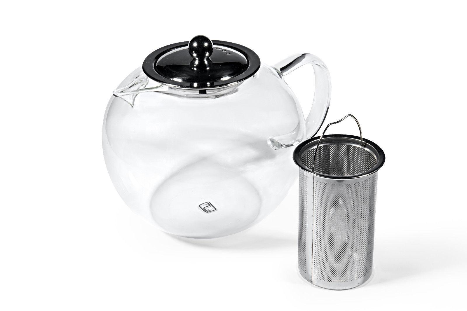 Glas Teekanne mit Metallfilter 950ml-3