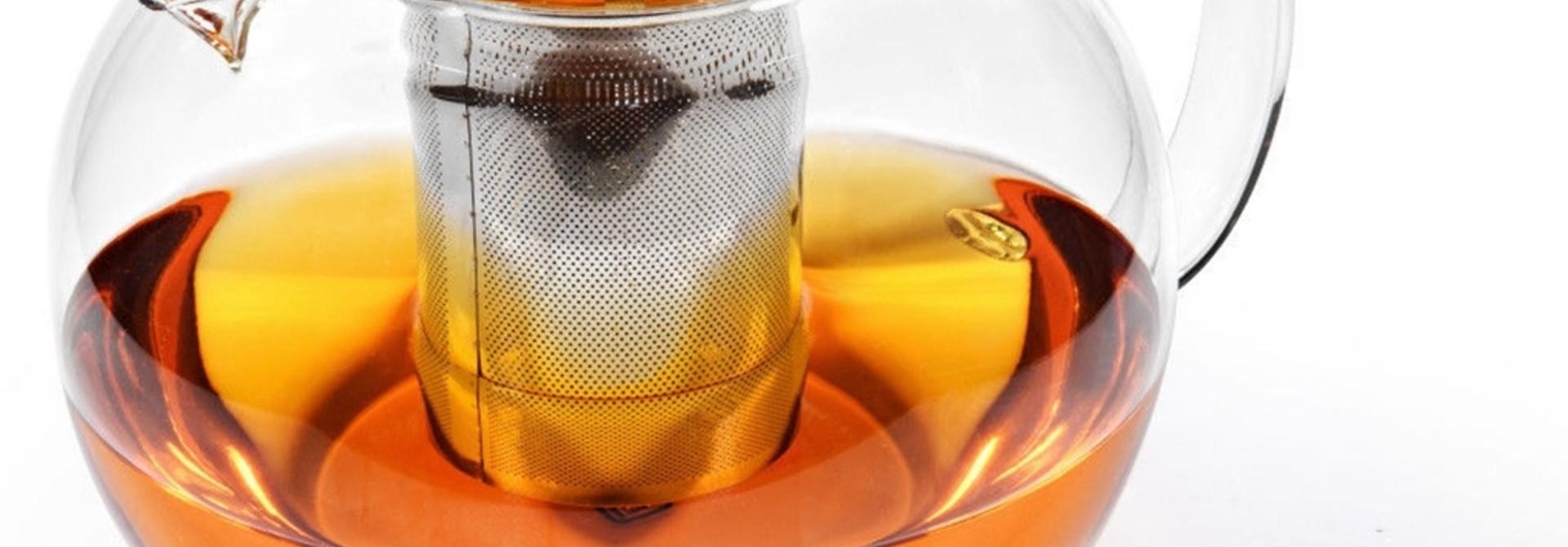 Théière en verre avec filtre métallique 950ml