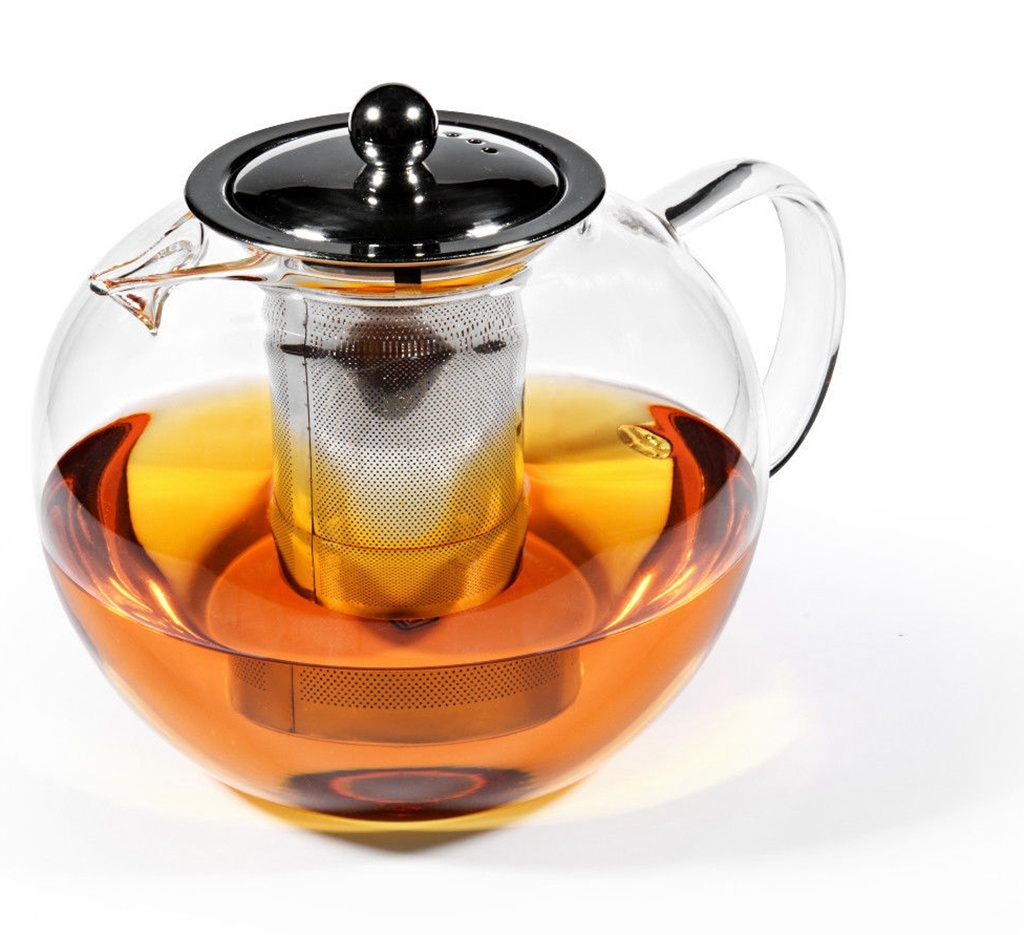 Glas Teekanne mit Metallfilter 950ml-1