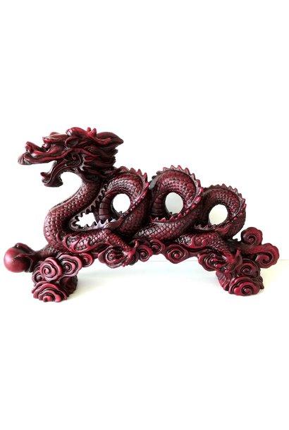 Rode draak op ornament