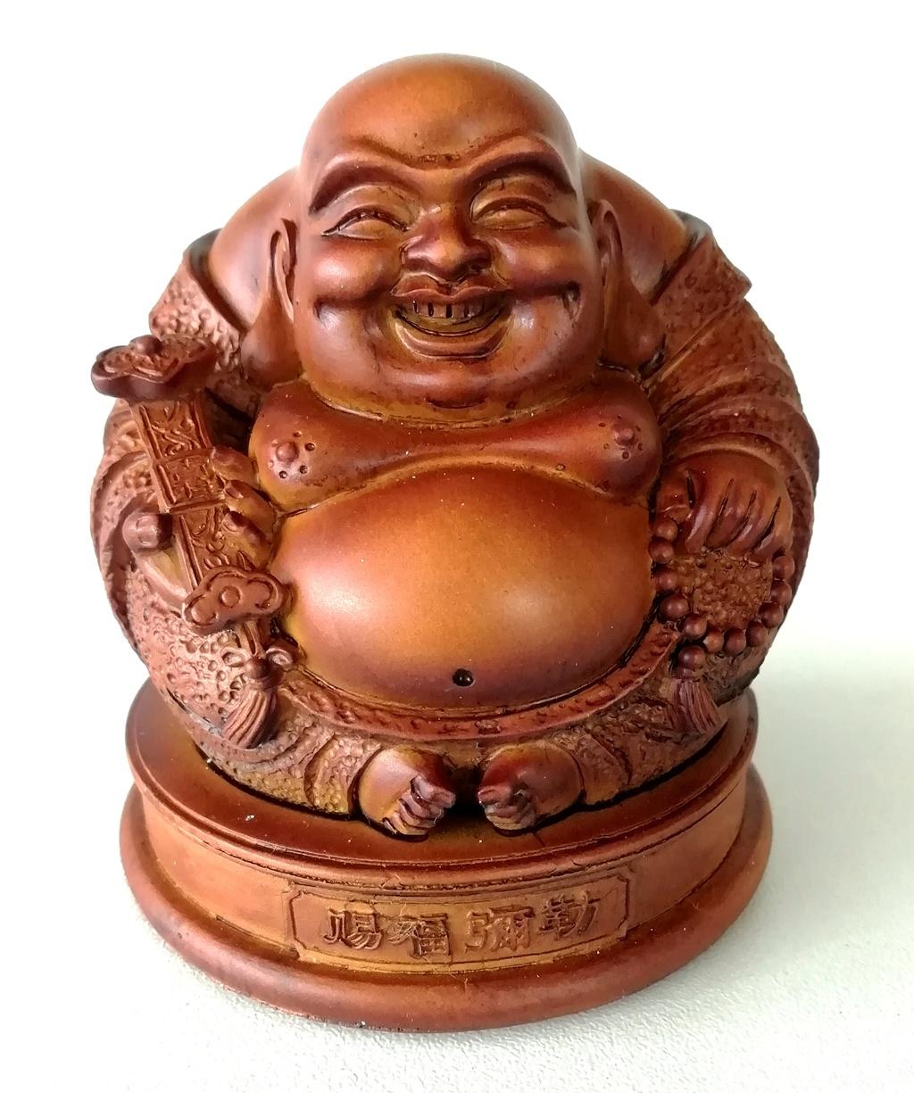 Chinese geluk & harmonie boeddha met Ruyi in de hand.-1