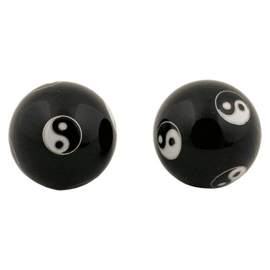 Chinesische Meridian-Geschosse 3,5 cm Yin-Yang in Schachtel-2