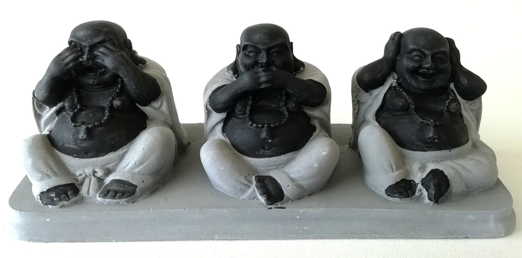 Die Buddhas der Weisheit, nicht sehen, nicht hören, nicht sprechen.-2