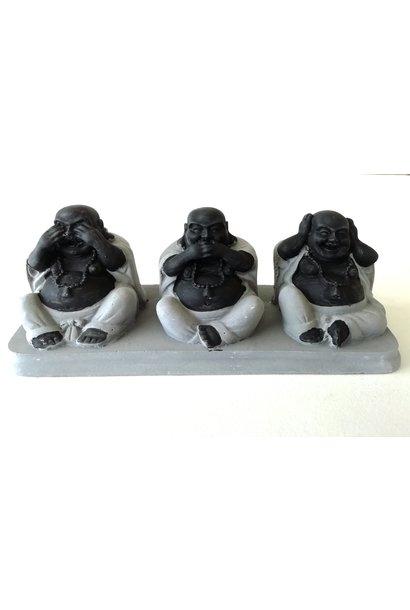 Wijsheid Boeddha set horen, zien en zwijgen