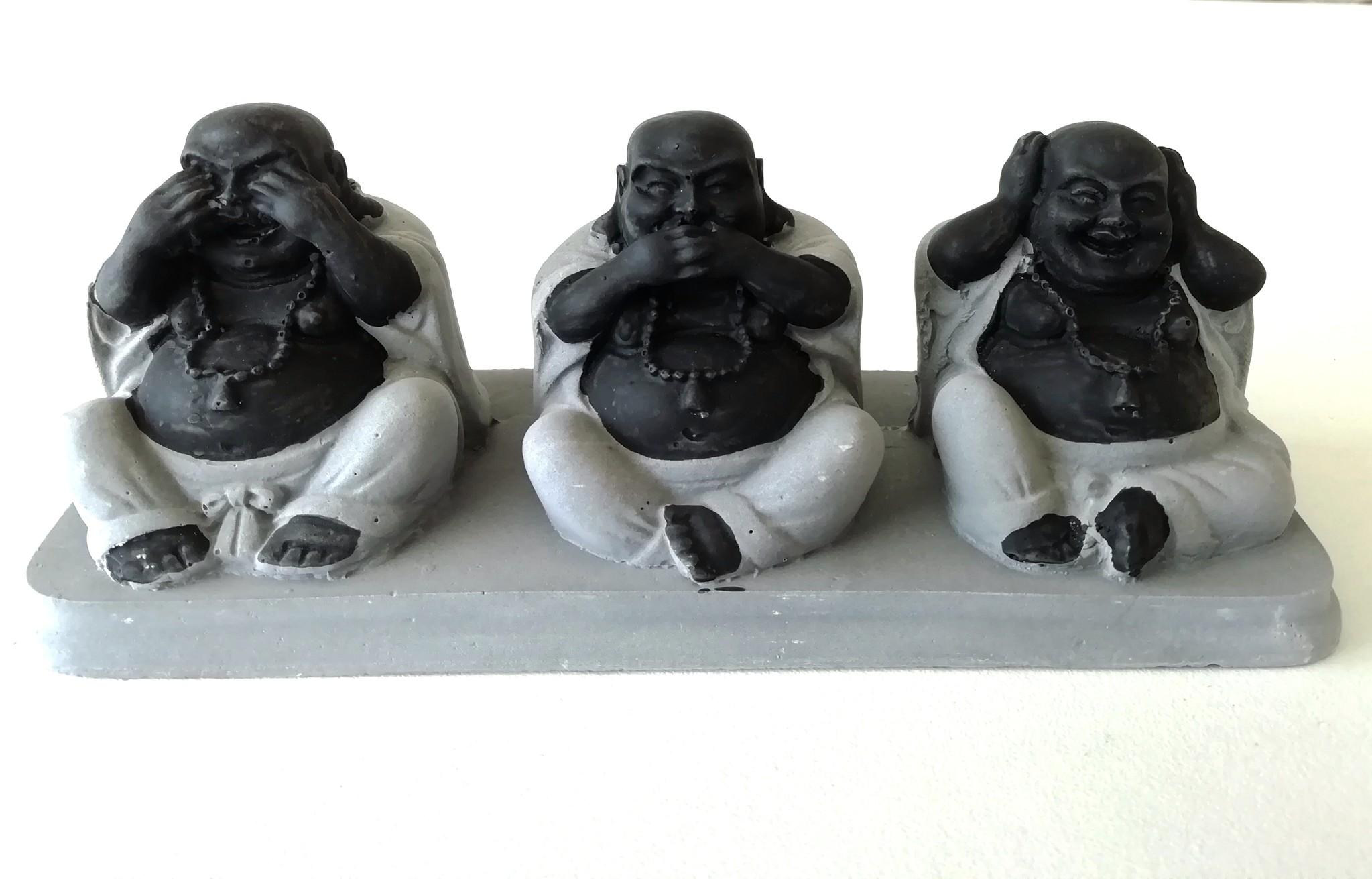 Die Buddhas der Weisheit, nicht sehen, nicht hören, nicht sprechen.-1
