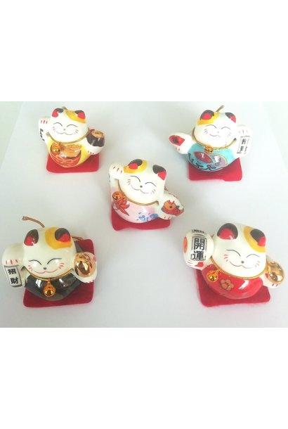 """Ensemble de 5 """"Lucky cat """" chinois"""